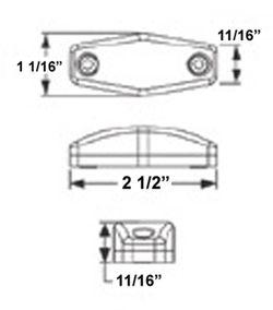 Sealed, Mini LED Side Marker, Clearance or Identification