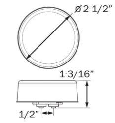 GloLight LED Trailer Clearance or Side Marker Light