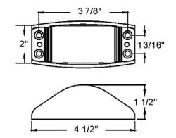 Mounting Hole Dimensions of the Steel Armored LED Trailer
