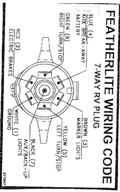 featherlite trailer plug wiring diagram