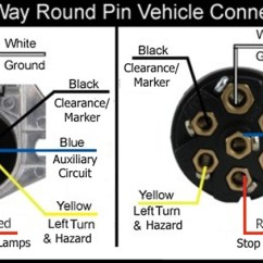 Wiring Diagram For Large 7 Pin Trailer Plug Beckett Burner 7-way Round And Vehicle Side Connectors | Etrailer.com