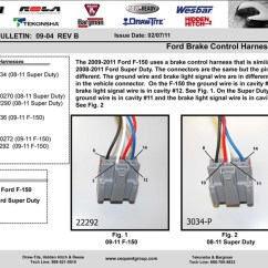 Trailer Wiring Diagram For Ford F 150 Define Engine Will Not Start With Brake Controller And # 3034-p Adapter Installed On 2009 ...