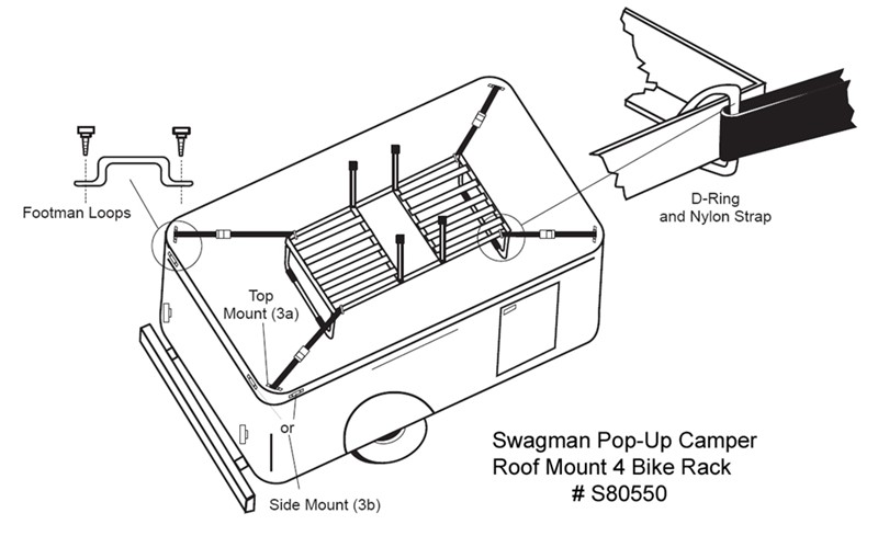 How To Install the Swagman Pop Up Camper Roof Mount 4 Bike