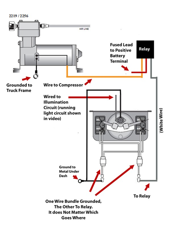 Air Ride Compressor Wiring Diagram Starter | Wiring ... Airbag Suspension Relay Wire Diagrams on