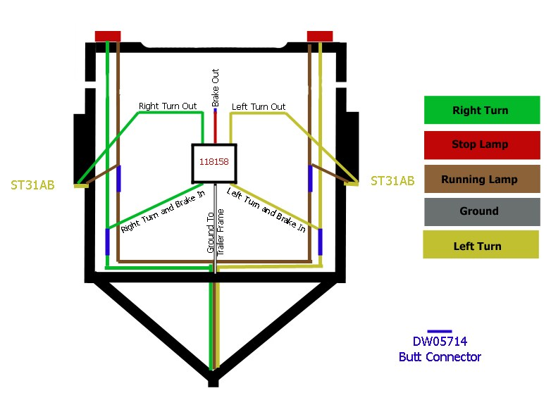 Wiring Diagram For 4 Way Trailer Lights On Wiring Images Free