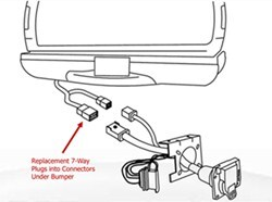 Replacement 7-Way and 4-Way Trailer Connector for a 2007