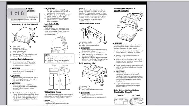 Electric Brake Controller Wiring Diagram. Wiring. Wiring