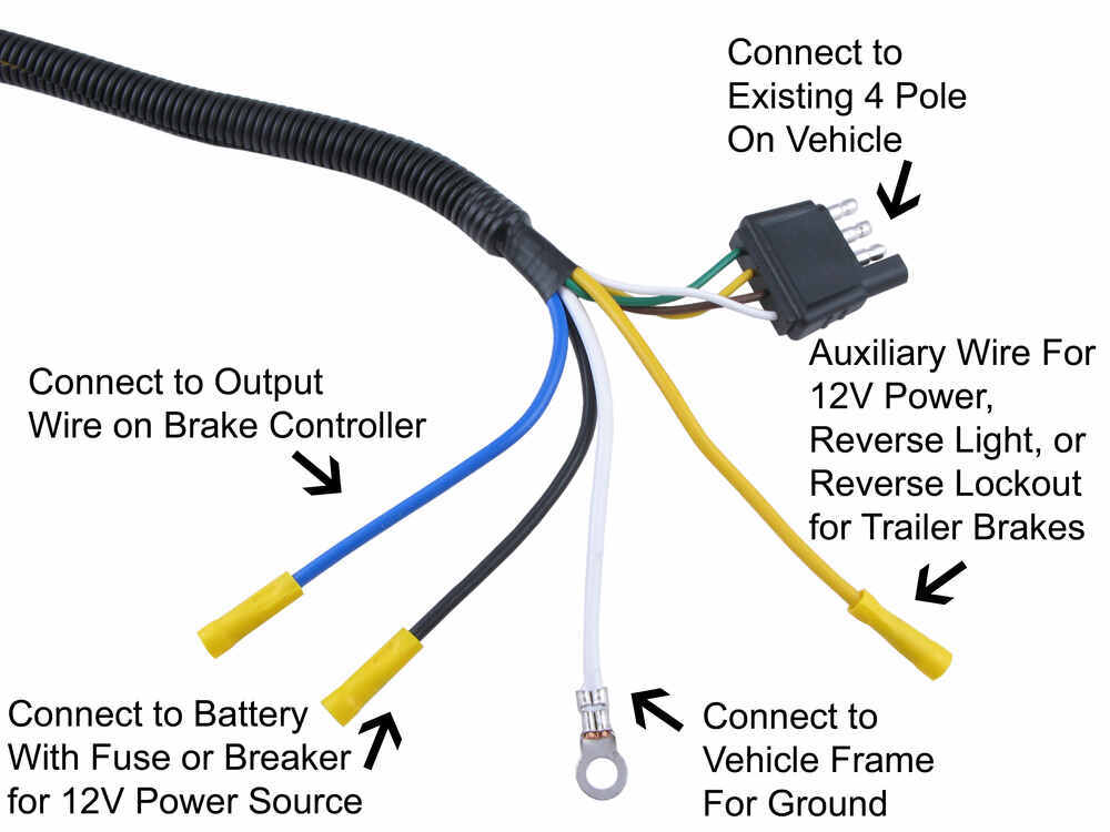 wiring diagram for 4 way flat trailer connector kc light wire brake lights great installation of get free image about