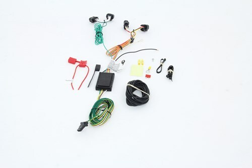 Curt T-Connector Vehicle Wiring Harness with 4-Pole Flat