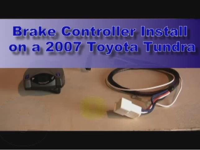 toyota tundra trailer wiring diagram dimmer brake controller installation 2007 video