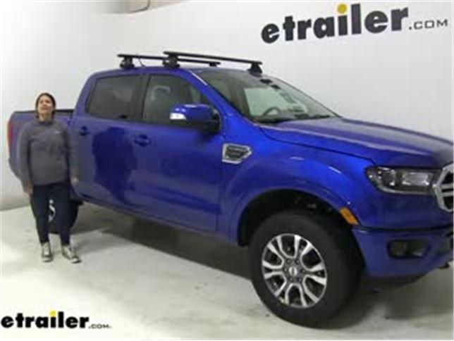 thule squarebar crossbars installation 2020 ford ranger