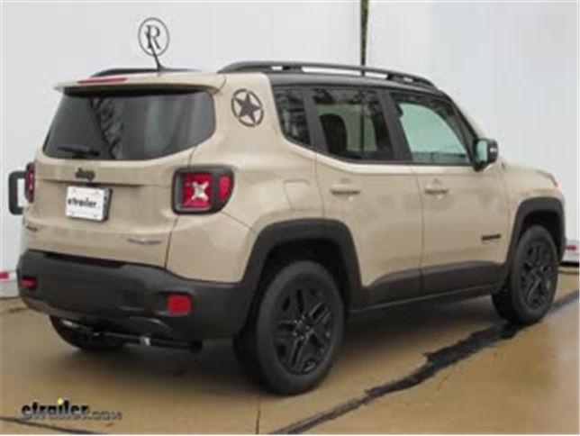 draw tite max frame trailer hitch installation 2017 jeep renegade