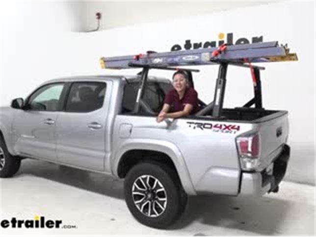 yakima overhaul hd adjustable truck bed ladder rack installation 2020 toyota tacoma