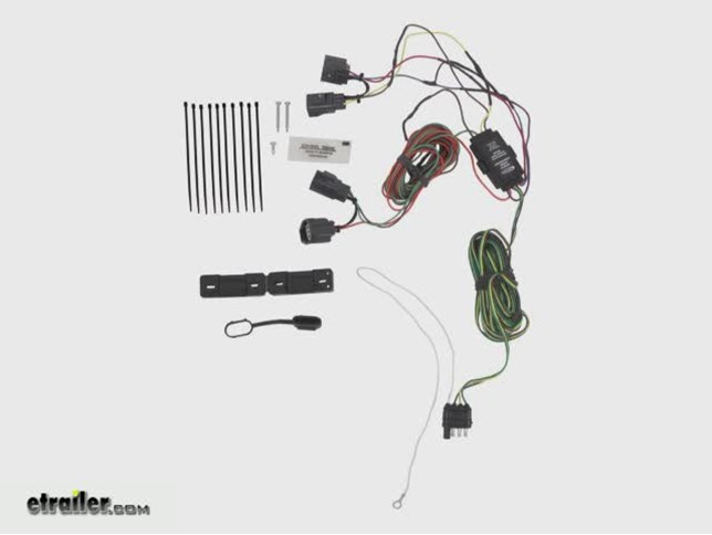 tail light wiring kit for towed vehicles