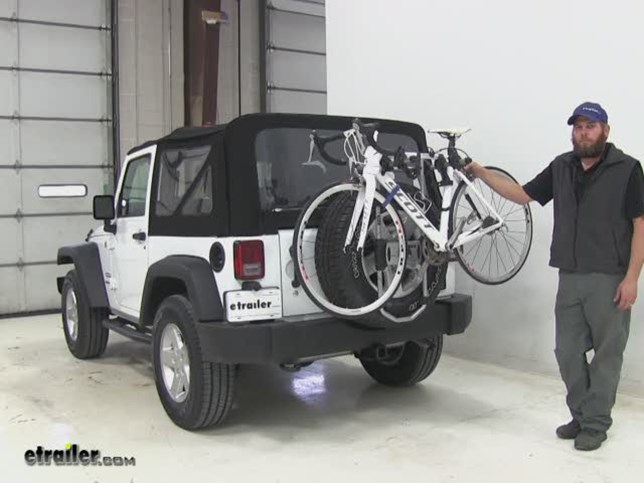 Jeep Wrangler Spare Tire Bike Rack