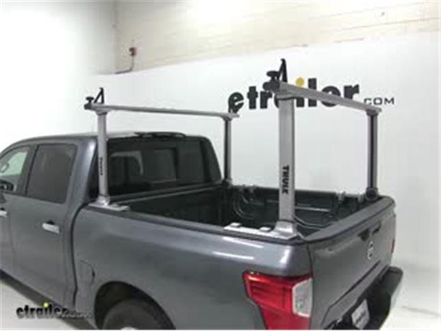 thule xsporter pro truck bed ladder rack installation 2017 nissan titan