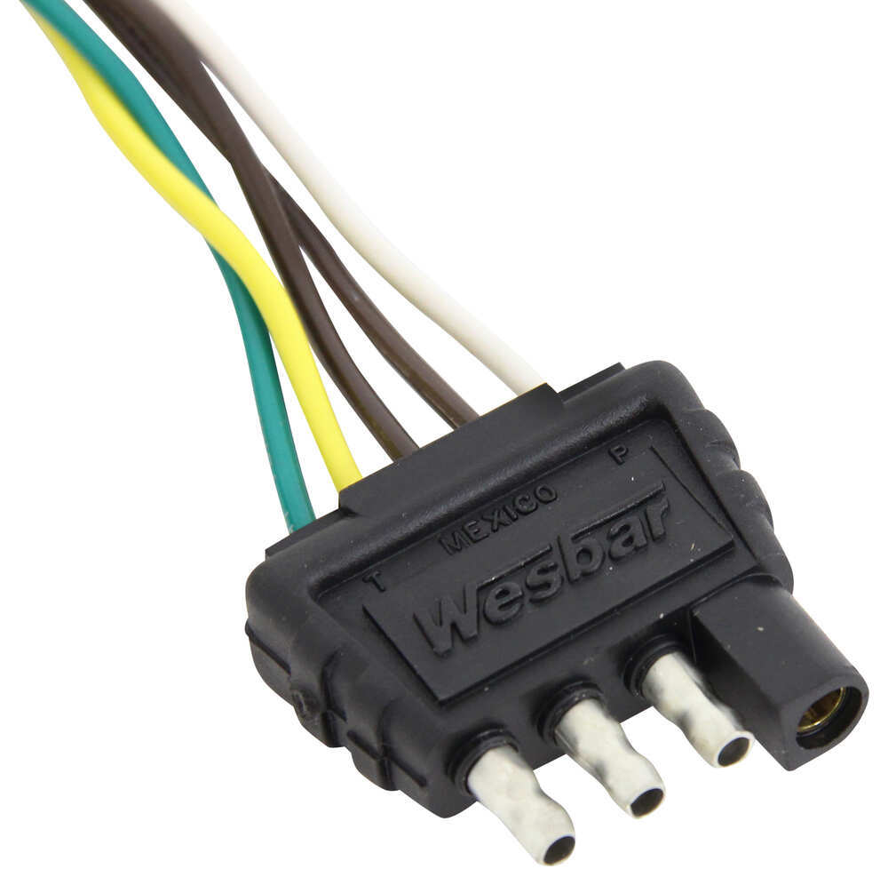 hight resolution of wesbar 4 way flat trailer wiring harness 20 long wesbar wiring 002220 wesbar 6 pin wiring harness