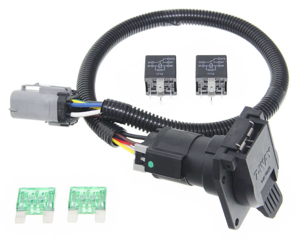 medium resolution of ford replacement oem tow package wiring harness 7 way super duty ford 7 pin trailer connector ford trailer plug harness