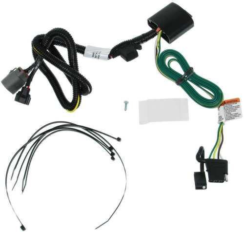 small resolution of t one vehicle wiring harness for factory tow package 4 pole flat trailer