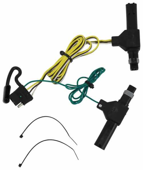 small resolution of t one vehicle wiring harness with 4 pole flat trailer connector tekonsha custom fit vehicle wiring 118317