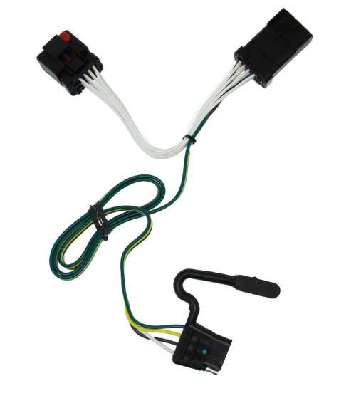 small resolution of t one vehicle wiring harness with 4 pole flat trailer connector tekonsha custom fit vehicle wiring 118381
