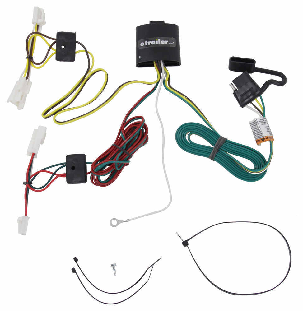 hight resolution of t one vehicle wiring harness with 4 pole flat trailer connector tekonsha custom fit vehicle wiring 118415