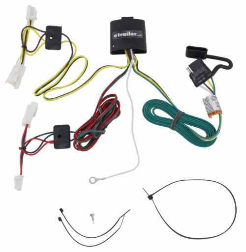 small resolution of t one vehicle wiring harness with 4 pole flat trailer connector tekonsha custom fit vehicle wiring 118415