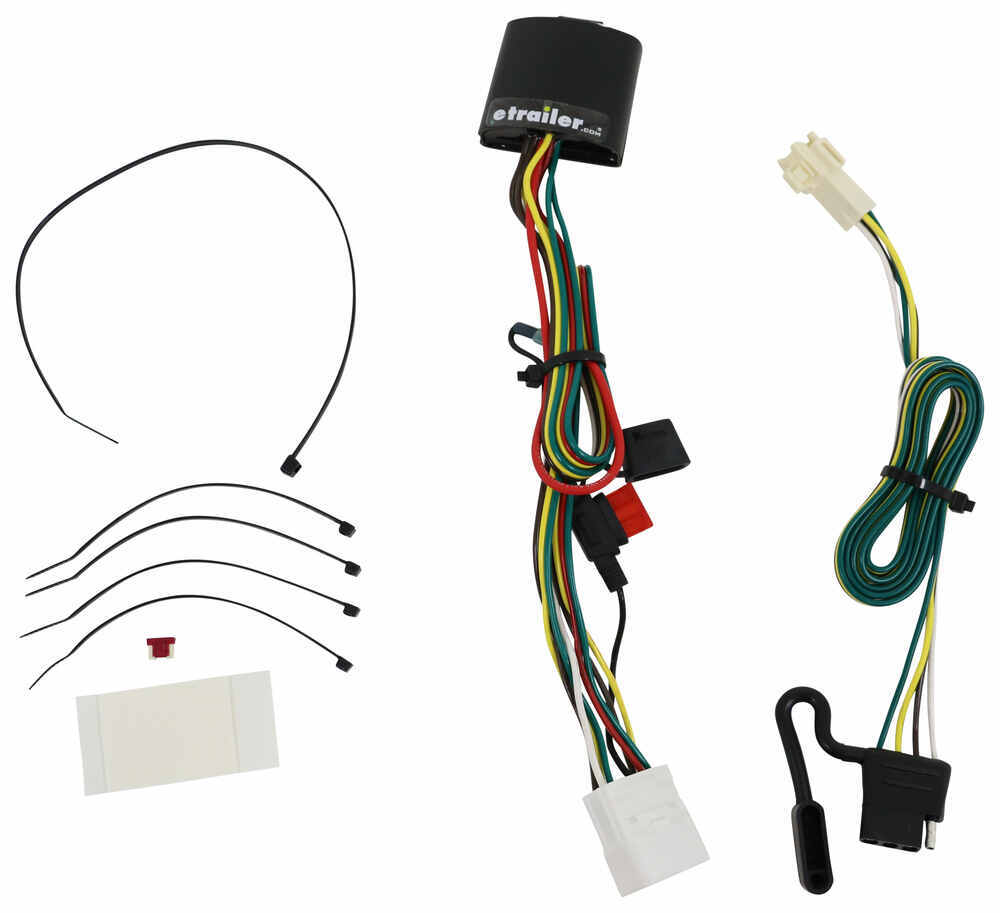 hight resolution of t one vehicle wiring harness with 4 pole flat trailer connector tekonsha custom fit vehicle wiring 118449