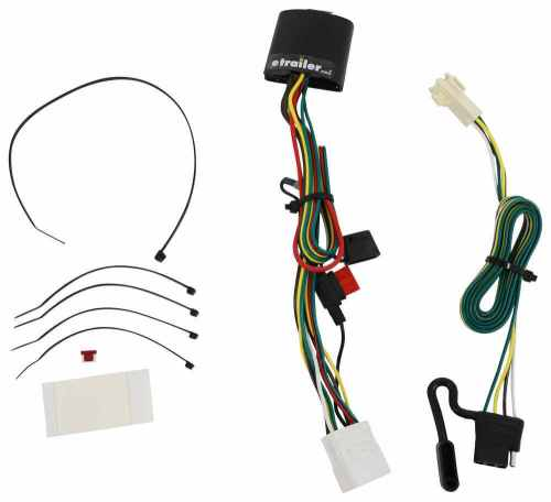 small resolution of t one vehicle wiring harness with 4 pole flat trailer connector tekonsha custom fit vehicle wiring 118449