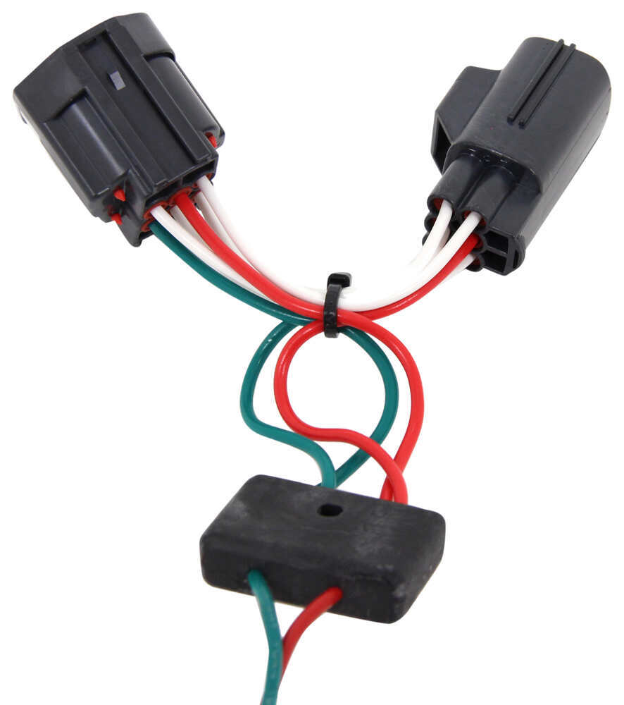 hight resolution of dodge nitro t one vehicle wiring harness with 4 pole flat trailer connector