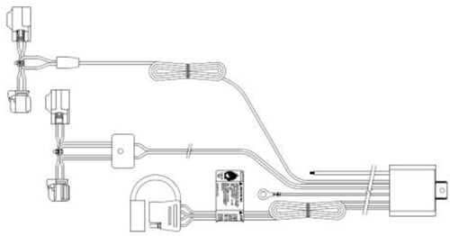 2014 Chevrolet Impala T-One Vehicle Wiring Harness with 4