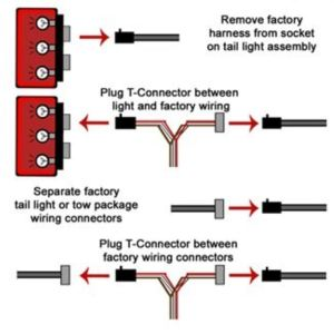 TOne Vehicle Wiring Harness with 4Pole Flat Trailer