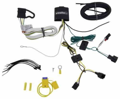 small resolution of t one vehicle wiring harness with 4 pole flat trailer connector tekonsha custom fit vehicle wiring 118730