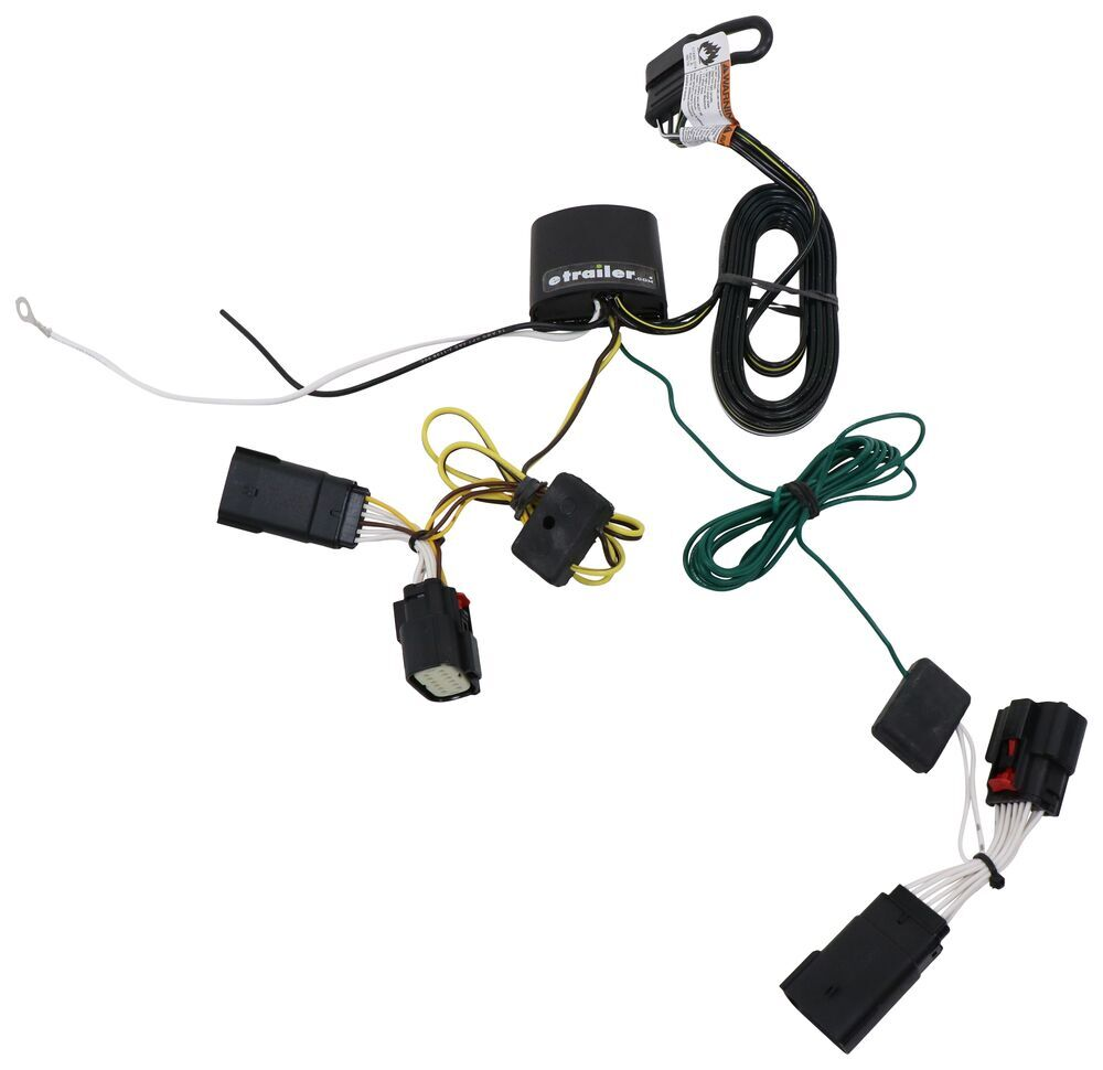 medium resolution of t one vehicle wiring harness with 4 pole flat trailer connector tekonsha custom fit vehicle wiring 118786