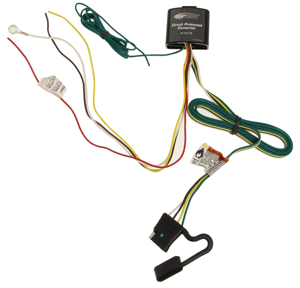 medium resolution of upgraded circuit protected tail light converter with 4 pole flat trailer connector tekonsha wiring 119178