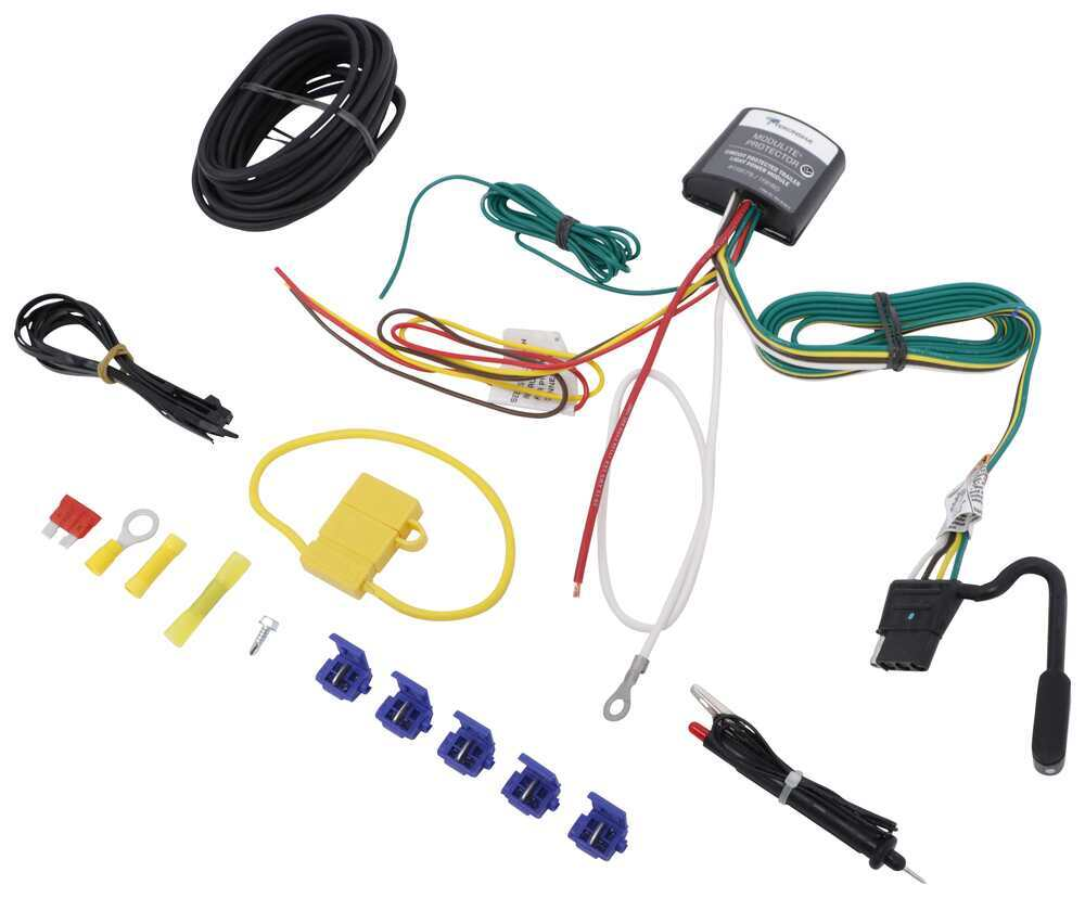 hight resolution of upgraded circuit protected modulite with 4 pole flat hardwire kit and circuit tester tekonsha wiring 119179kit