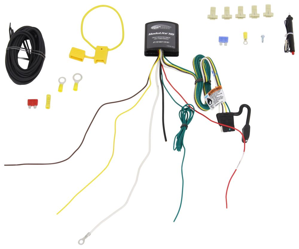 medium resolution of upgraded heavy duty modulite circuit protected vehicle wiring harness with install kit tekonsha wiring 119190kit