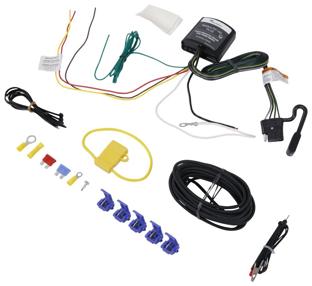 medium resolution of upgraded heavy duty modulite circuit protected vehicle wiring harness with installation kit tekonsha wiring 119190kit