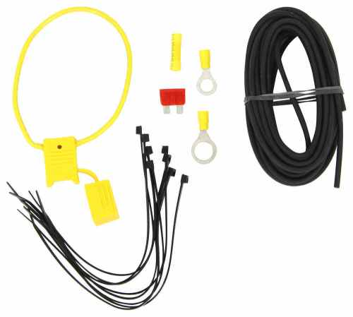 small resolution of zci circuit protected vehicle wiring harness w 4 pole flat trailer connector and installation kit tekonsha wiring 119250kit