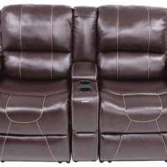 66 Inch Wide Sofa Beige Leather Living Room Thomas Payne Rv Dual Reclining W/ Center Console ...