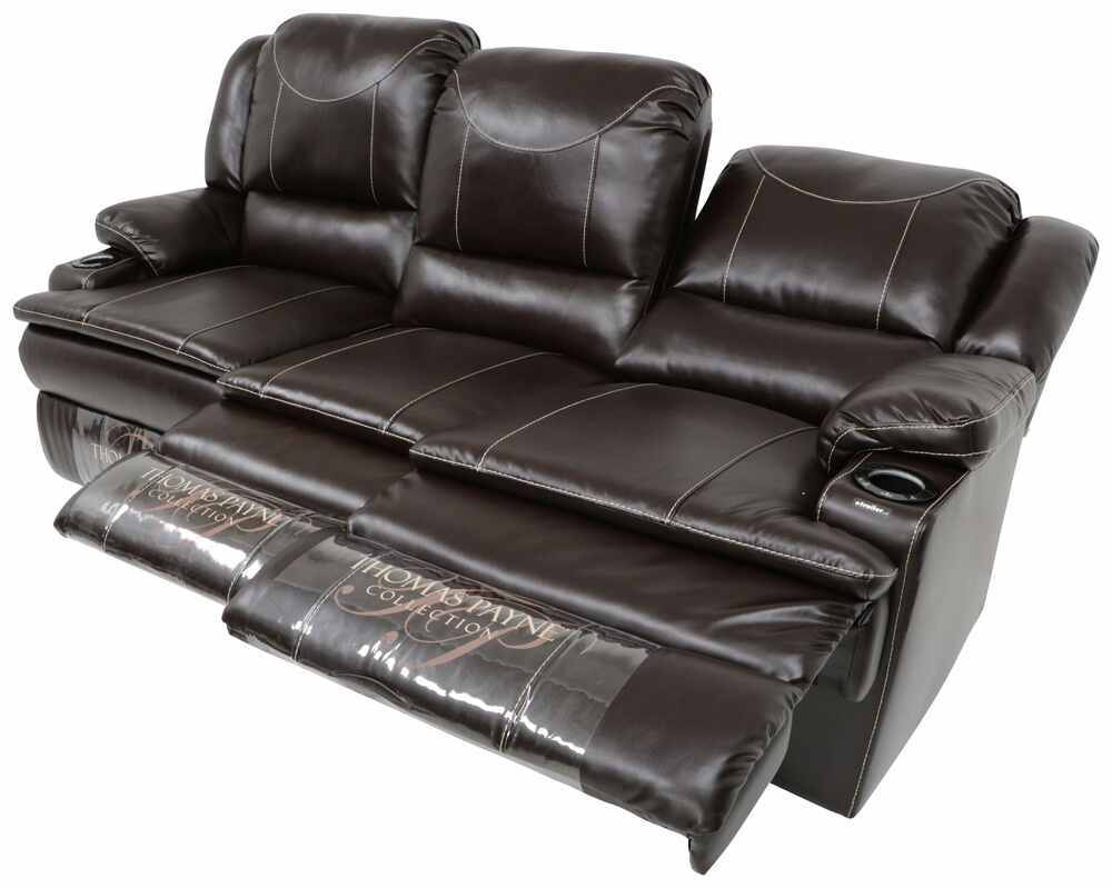 lane triple reclining sofa microfiber chaise with console and massage | awesome home