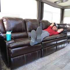 Triple Reclining Sofa With Bed Underneath Thomas Payne Momentum Rv W/ Heat ...