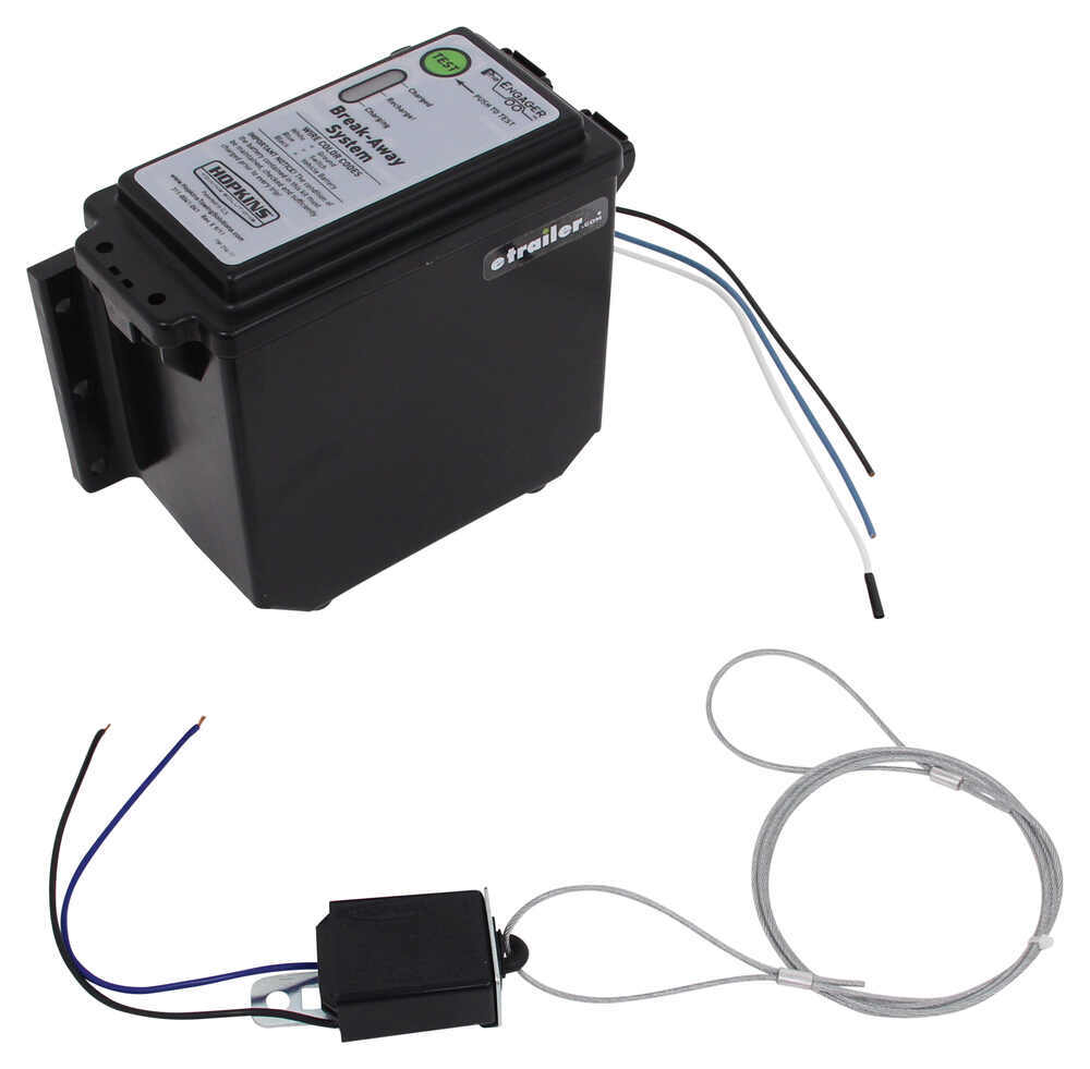 hight resolution of hopkins engager push to test trailer breakaway kit with built in battery charger top load hopkins trailer breakaway kit 20400