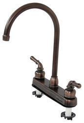 rv kitchen faucets backslash for can neck of ultra faucet be ordered separately dual handle oil rubbed bronze