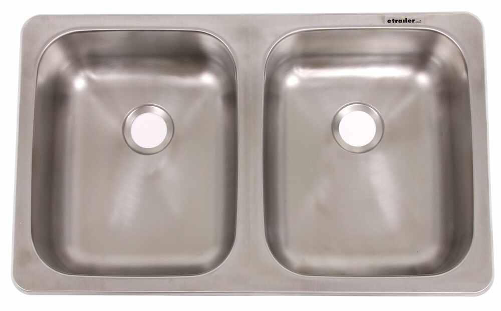 25 x 15 Double Bowl Sink  Stainless Steel Patrick Distribution RV Sinks 277000127
