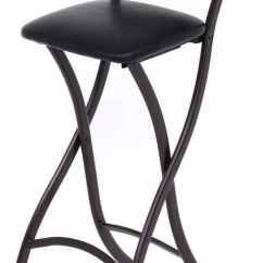 Bar Stool Chair Extenders Folding Armless Camping Chairs Folding. Cushioned Stool. Counter Height Black 29 ...