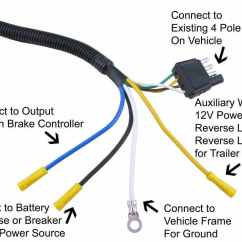 Trailer Wire Diagram 7 Leviton Combination Switch Outlet Wiring Adapter 4 Pole To Vehicle End Connector Tow Ready 30717