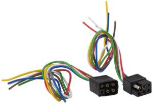 6Pole Square Trailer Wiring Connector Kit (Car and Trailer Ends) Hopkins Wiring 37995
