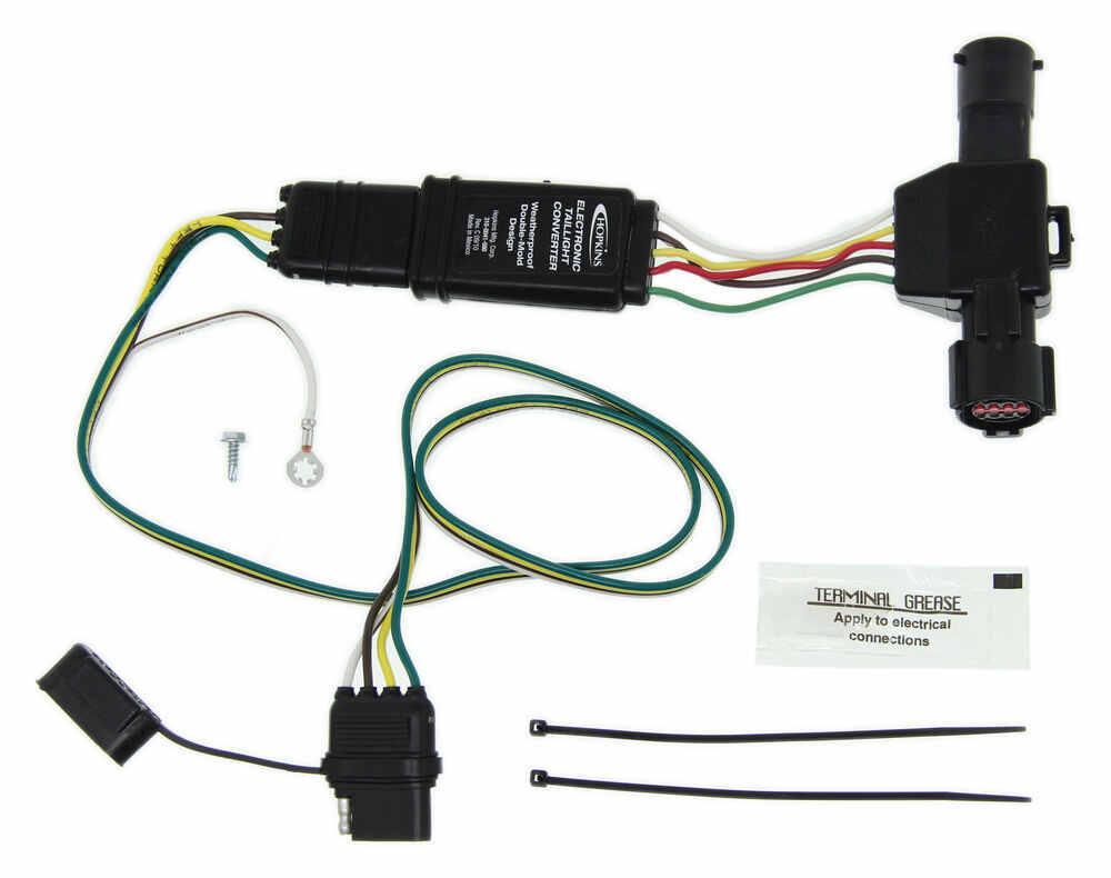 medium resolution of hopkins plug in simple vehicle wiring harness with 4 pole flat trailer connector hopkins custom fit vehicle wiring 40215