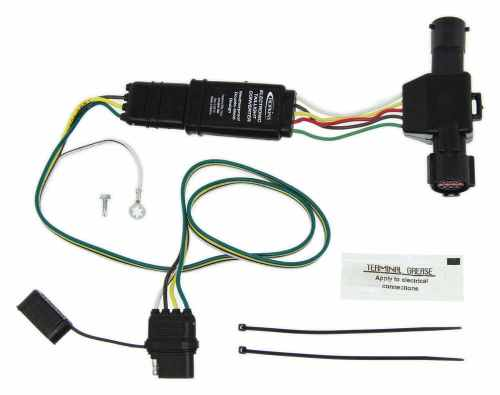 small resolution of hopkins plug in simple vehicle wiring harness with 4 pole flat trailer connector hopkins custom fit vehicle wiring 40215